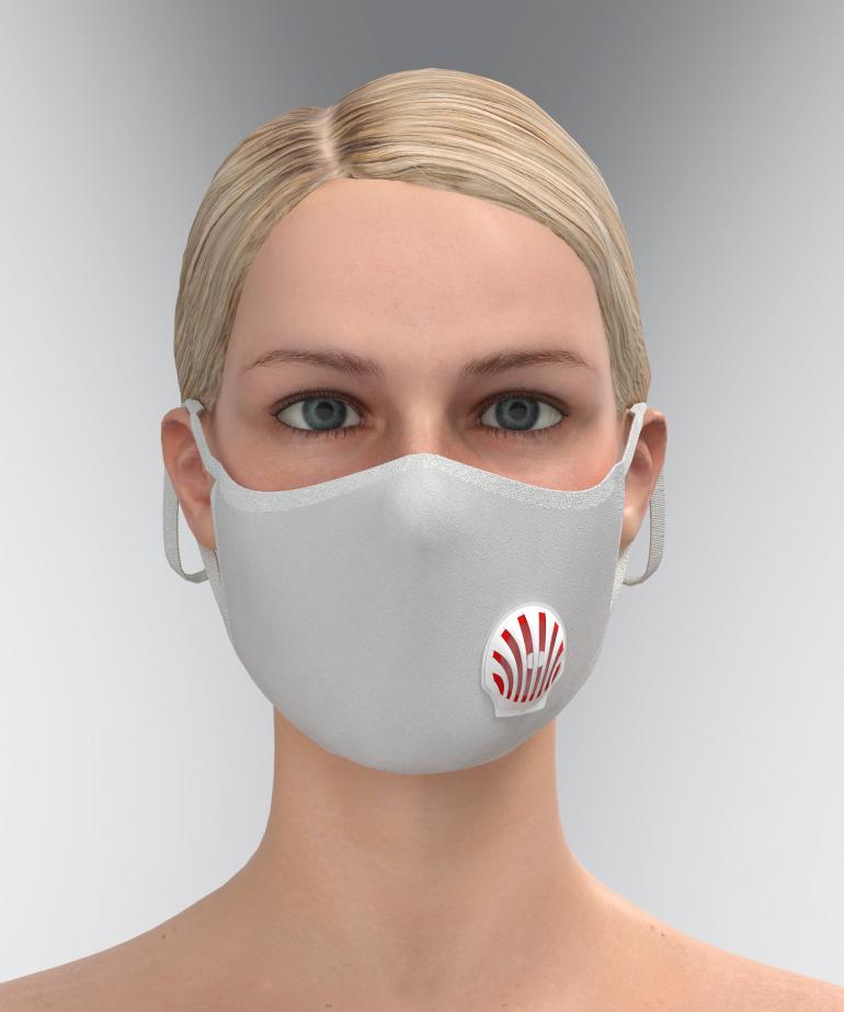 İstiridye Hava Kanallı Maske