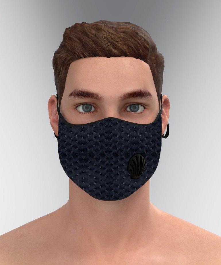Dokulu Kumaş İstiridye Kanallı Maske