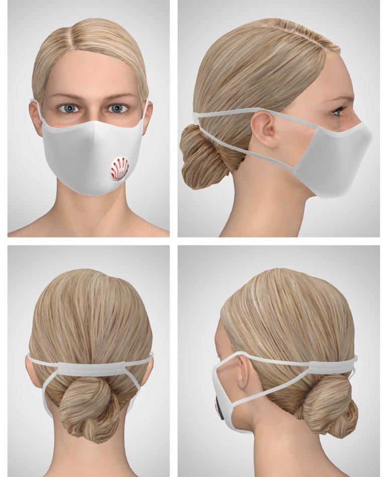 İstiridye Hava Kanallı Cırtlı Maske